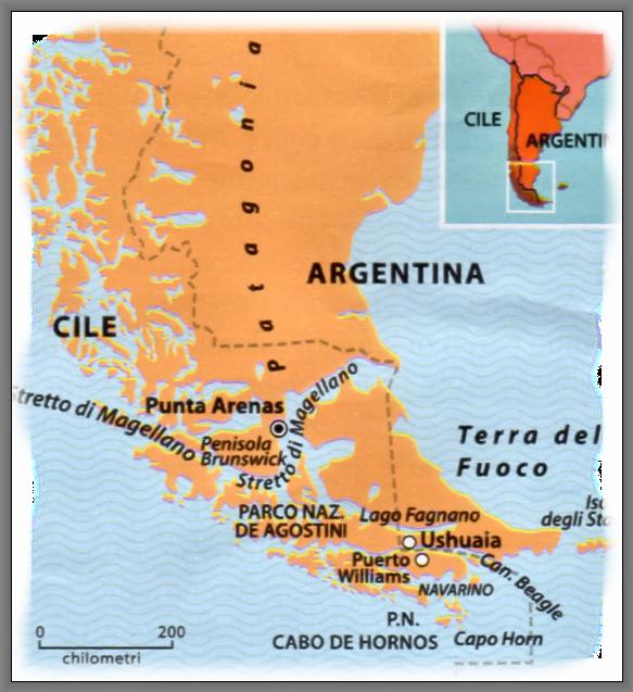 Capo Horn Cartina.Cile La Terra Del Fuoco E Capo Horn Viaggio Fra I Ghiacciai